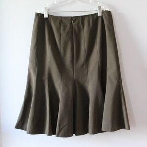 Alfani Essentials Brown Midi Skirt